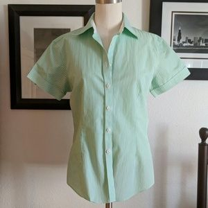 Brooks Brothers Fitted Short Sleeve Button Up